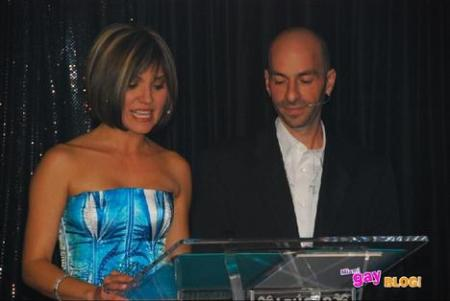 Daysi Ballmajo of Papparazzi TV & Tony Rodriguez General Manager of Azucar